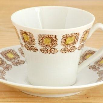 GEFLE(Upsala Ekeby)/ゲフル(ウプサラエクビイ)/HELIANTHUS/ひまわり模様のコーヒーカップ&ソーサーの商品写真