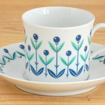 Upsala Ekeby/ウプサラエクビイ/KARLSKRONA釜/お花模様が可愛いコーヒーカップ&ソーサーの商品写真