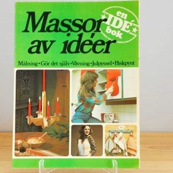 スウェーデンで見つけた古い本(DIYや手作りのアイデア帳)の商品写真