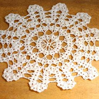 スウェーデンで見つけた手編みマット(1)の商品写真