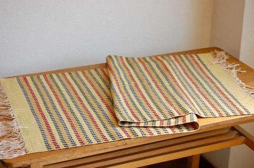 スウェーデンで見つけた織マット(イエロー)の商品写真