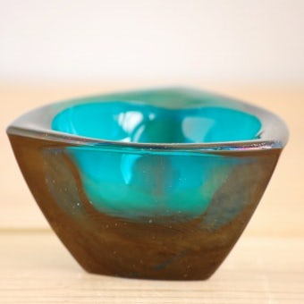 Nuutajarvi/Kaj Frank/カイ・フランク/ガラスのボウル(アッシュトレイ)/グリーンの商品写真