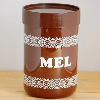 デンマーク/Erik Kold/エリック・コールド/プラスティックキャニスター(ブラウン・小麦粉)の商品写真