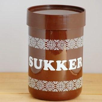 デンマーク/Erik Kold/エリック・コールド/プラスティックキャニスター(ブラウン・お砂糖)の商品写真