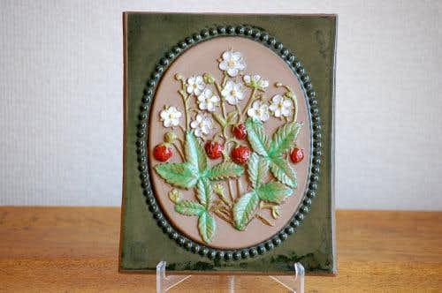 スウェーデン/JIE釜/陶板の壁掛け(野イチゴ)の商品写真