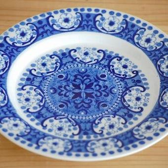 ARABIA/アラビア/ALI/アリ/お花模様のデザートプレート(ブルー)の商品写真