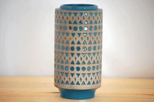 Upsala Ekeby/ウプサラエクビイ/Mari Simmulson/空色の陶器の花瓶の商品写真