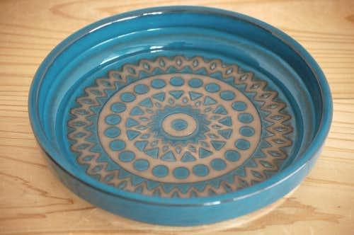 Upsala Ekeby/ウプサラエクビイ/Mari Simmulson/空色の陶器のラウンドトレイの商品写真