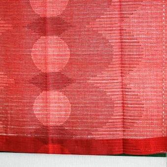 スウェーデンで見つけたヴィンテージカーテン2枚セット(レッド)の商品写真