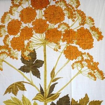 スウェーデンで見つけたヴィンテージカーテン2枚セット(美しい植物)の商品写真