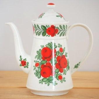 デンマークで見つけたお花柄がエレガントなコーヒーポット(ドイツ製)の商品写真