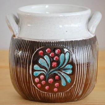 Upsala Ekeby/ウプサラエクビイ/Mari Simmulson/陶器のジャムポット(大)の商品写真