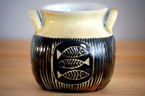 Upsala Ekeby/ウプサラエクビイ/Mari Simmulson/陶器のジャムポット(小)の商品写真