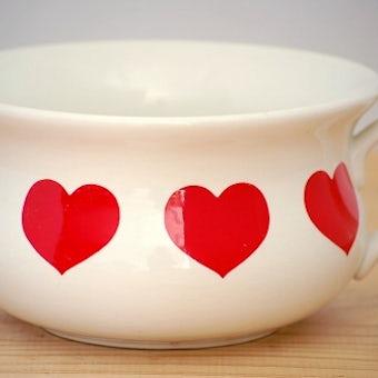 イギリス製/PORTMEIRION/ハート柄が可愛い陶器のボウルの商品写真