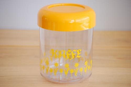 フィンランド製/プラスティック製コーヒーキャニスター(イエロー)の商品写真