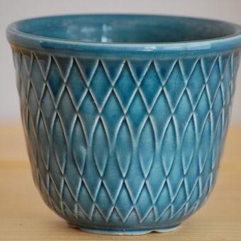RORSTRAND/ロールストランド/陶器の植木鉢(ブルー)の商品写真