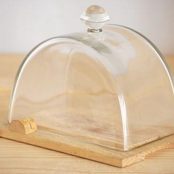 スウェーデンで見つけたガラス製チーズドームの商品写真