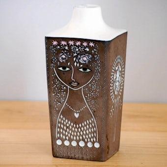 超レア!!/Upsala Ekeby/ウプサラエクビイ/Mari Simmulson/花瓶(美しい女性)の商品写真