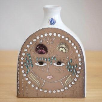 Upsala Ekeby/ウプサラエクビイ/Mari Simmulsonデザイン/陶器の花瓶(美しい女性)の商品写真