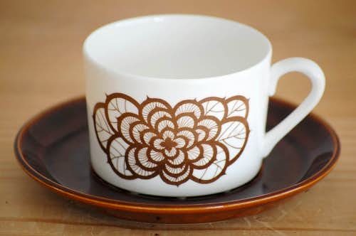 GUSTAVSBERG/グスタフスベリ/Rosenbrun/コーヒーカップ&ソーサーの商品写真