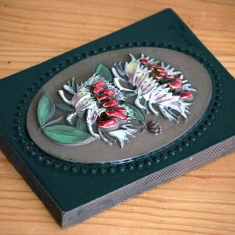 スウェーデン/JIE釜/陶板の壁掛け(小)(白いお花)の商品写真