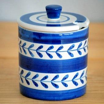 スウェーデン/Nittsjo釜/陶器のポット(ブルー)の商品写真