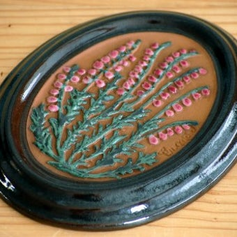 スウェーデン/GABRIEL/ガブリエル釜/陶板の壁飾り(ピンク色の実)の商品写真