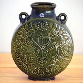 Upsala Ekeby/ウプサラエクビイ/陶器の花瓶(大・モスグリーン)の商品写真