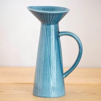 RORSTRAND/ロールストランド/ピッチャー型の陶器の花瓶(ブルー)の商品写真