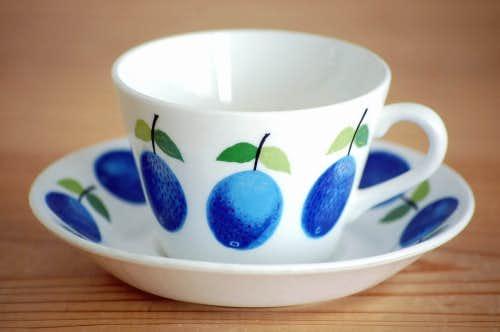 GUSTAVSBERG/グスタフスベリ/PRUNUS/プルーヌス/コーヒーカップ&ソーサー(僅かに難あり)の商品写真