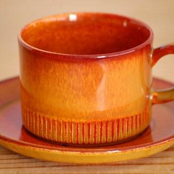 GEFLE/ゲフル/素朴な雰囲気のカップ&ソーサーの商品写真