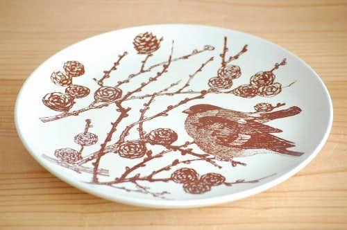デンマーク/NYMOLLE社/mads stage/小鳥の飾り皿(ウソ)の商品写真