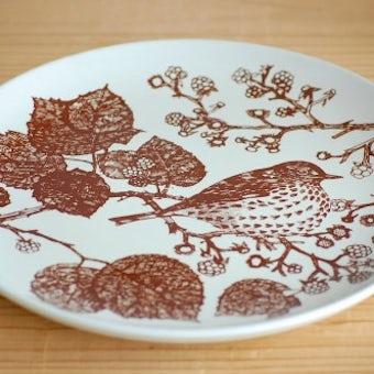 デンマーク/NYMOLLE社/mads stage/小鳥の飾り皿(ウタツグミ)の商品写真