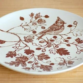 デンマーク/NYMOLLE社/mads stage/小鳥の飾り皿(シジュウカラ)の商品写真