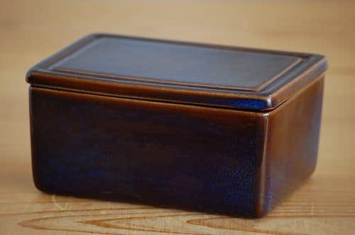 スウェーデンで見つけた陶器のバターケース(ブルー)の商品写真