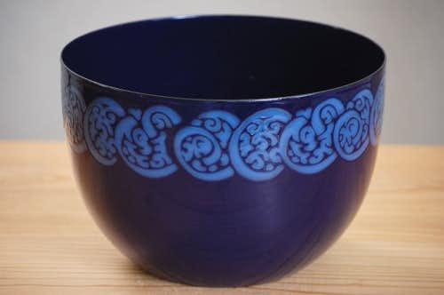 ARABIA(FINEL)/アラビア(フィネル)/ホーロー製ボウル(大)ブルーの商品写真