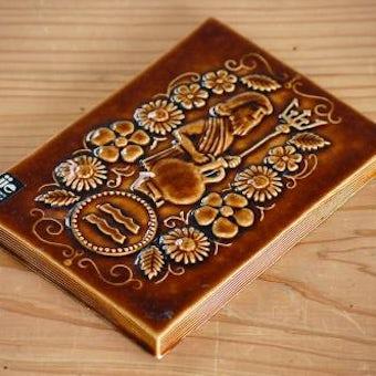 スウェーデン/JIE釜/陶板の壁掛け(ブラウン)の商品写真