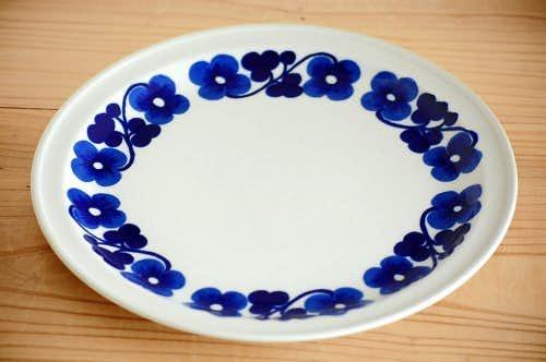 ARABIA/アラビア/ブルーのお花模様が可愛いプレート(23.5cm)の商品写真