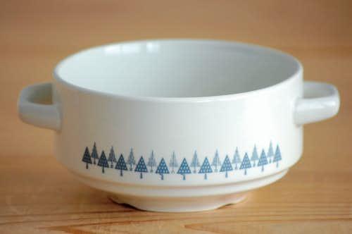 ノルウェー/FIGGJO/フィッギオ/木の模様が可愛い持ち手付きスープボウルの商品写真