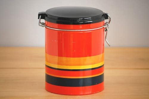 デンマーク/IRA社製/ブリキのコーヒーキャニスター(オレンジ)の商品写真