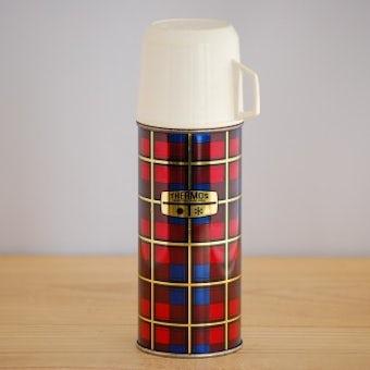デンマークで見つけたチェック柄が可愛い魔法瓶(水筒)の商品写真