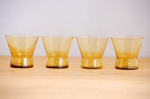 スウェーデンで見つけたショットグラス4個セット(ブラウン)の商品写真