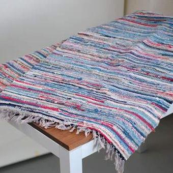 スウェーデンで見つけた織マット(ブルー)の商品写真
