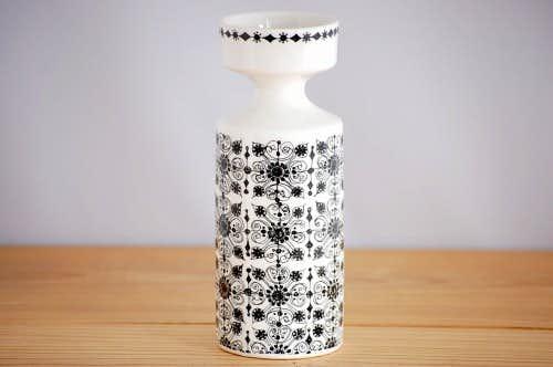 ノルウェー/FIGGJO/フィッギオ/陶器の花瓶(キャンドルスタンド)の商品写真