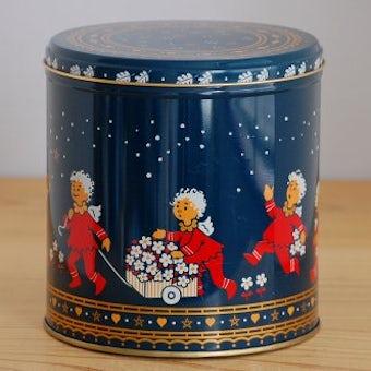 デンマークで見つけた古いブリキ缶(かわいい天使達)の商品写真