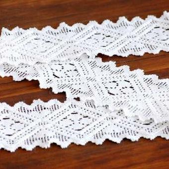 スウェーデンで見つけた手編みドイリー(ホワイト・細長)の商品写真