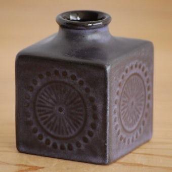 Upsala Ekeby/ウプサラエクビイ/キューブ型の花瓶(パープル)の商品写真