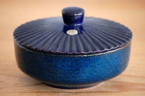 スウェーデン/GABRIEL/ガブリエル釜/陶器の蓋付きキャニスターの商品写真