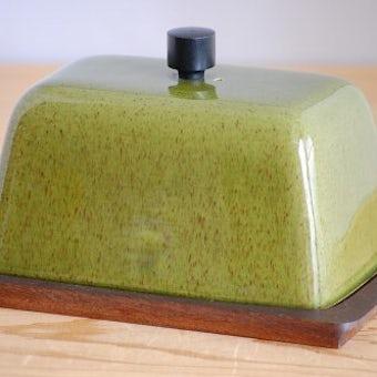 スウェーデンで見つけた陶器カバーの珍しいチーズドームの商品写真