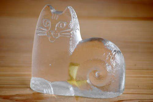 Lisa Lason/リサ・ラーソン/ガラス製のオブジェ(猫)の商品写真